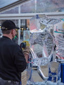 Ice sculpting at Sculpture Festival — Stock Photo