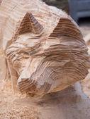 木狐狸做雕塑,雕塑节 — 图库照片