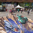 Street painting in 3D — Stock Photo