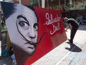 Street painting — Stock Photo