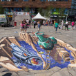 Street painting in 3D — Stock Photo #34912003