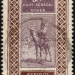 Stock Photo: Postage stamp from Niger ca. 1915
