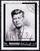 Postage stamp showing John F. Kennedy — Stock Photo
