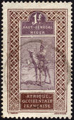 Postage stamp from Niger ca. 1915 — Stock Photo