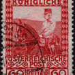 Postage stamp showing Austriemperor Frans Josef — Stock Photo #39709189