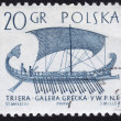 Stock Photo: Stamp showing ancient galley ship