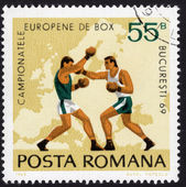 Postage stamp in honor of boxing championship 1969 — Stock Photo