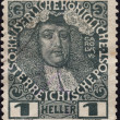 Postage stamp showing Holy Roman Emperor Charles VI — Stock Photo