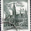 Postage stamp showing the town hall in Vienna, Austria — Stock Photo