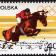 Postage stamp showing a horse jumper — Stock Photo #39966845