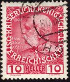 Selo postal mostrando o imperador austríaco franz josephi — Fotografia Stock