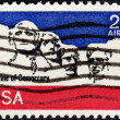 United States postage stamp used for airmail deliveries overseas — Stock Photo #40025251