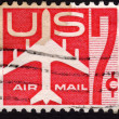 Stock Photo: United States postage stamp used for airmail deliveries overseas