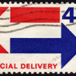 United States postage stamp used for speical deliveries — Stock Photo