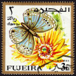 Postage stamp showing a butterfly — Stock Photo