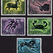 Postage stamp showing several zodiac signs — Stock Photo