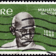 Postage stamp showing the portrait of Mahatma Gandhi — Stock Photo