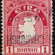 Postage stamp showing map with outlines of Ireland — Stock Photo #40230071