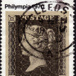 Postage stamp showing first engraved issue in UK — Stock Photo #40230445