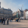 Royal Palace and New Church in Amsterdam — Stock Photo #40974343