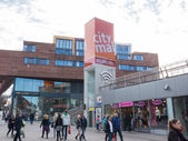 The modern city centre of Almere, The Netherlands — Stockfoto