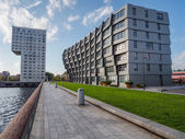 Appartment buildings in the modern city centre of Almere, The Ne — Stock Photo