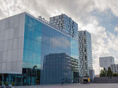 Architecture in the modern city centre of Almere, The Netherland — Stock Photo