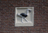 Decoration on Amsterdam canal house — Stock Photo