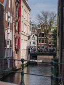Canal houses in Amsterdam  — Stock Photo