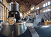 Machine room of historic steam pumping station — Stock Photo