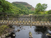 Metal bridge in Elan Valley, Wales — Stock Photo