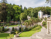 Italian inspired ornate buildings in Portmeirion, Wales — Stock Photo