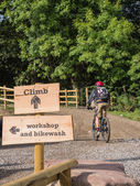 Main riding mountain bike trail — Stock Photo