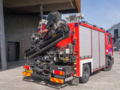 Fire truck with crane — Stock Photo