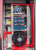 Interior of a modern Dutch fire truck — Stock Photo