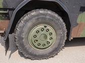 Wheel of military vehicle — Stock Photo