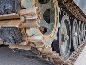 Detail of military tank — Stock Photo