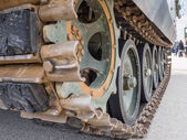 Detail of military tank — Stock Photo