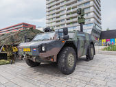Military armored reconnaissance vehicle — Stock Photo