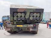 Military MLRS rocket launcher — Stock Photo