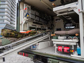 Military ambulance — Stock Photo