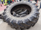 Huge truck tires — Stock Photo