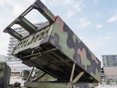 Military MLRS rocket launcher — Stock Photo