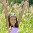 Hispanic Girl Enjoys Nature — Stock Photo