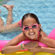 Little Hispanic Girl in Swimming Pool — Stockfoto #17007485