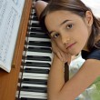 Dreamy Young Pianist - Foto Stock