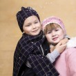 Chidren hugging — Stock Photo