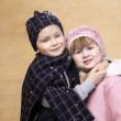 Chidren hugging - Stock Photo