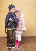 Boy with a girl hugging — Stock Photo