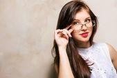 Menina de óculos — Fotografia Stock
